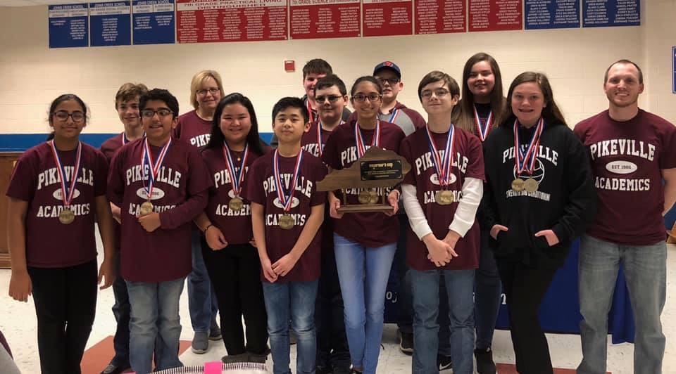 2018-19 Pikeville Junior High Academic Team